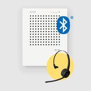 """Intercomunicador """"VoiceBridge"""" – auscultadores Bluetooth incluídos"""