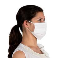 Máscara de proteção 100% tecido não tecido, de duas camadas
