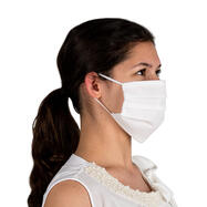 Máscara protetora 100% tecido não tecido, de duas camadas