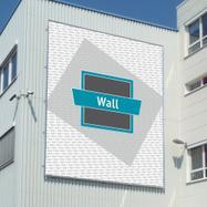 """Sistema de caixilho em alumínio para banners """"Wall"""""""