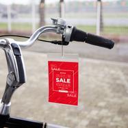 Capa padrão para etiquetas de preço, em película macia, com abertura