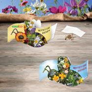 """Cartão desdobrável """"Salvem as abelhas"""""""
