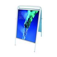 Expositor de cartaz exterior, dobrável, sem placa superior