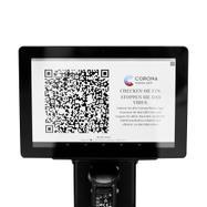 Tablet POS interativo para postes separadores
