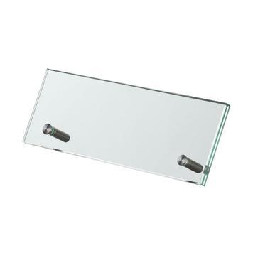 Expositor para mesa em vidro de segurança 200 x 70 mm