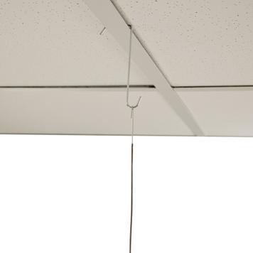 Gancho de teto para painel com ilhó do lado oposto