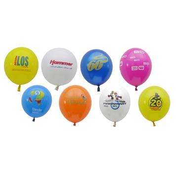 Balões coloridos, com impressão mediante pedido