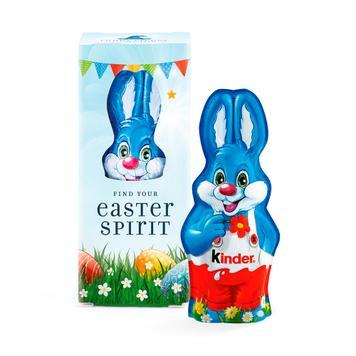Coelho da Páscoa de chocolate Mini Kinder em embalagem promocional