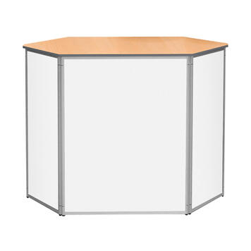 """Balcão hexagonal """"IQ"""" – com fechadura"""