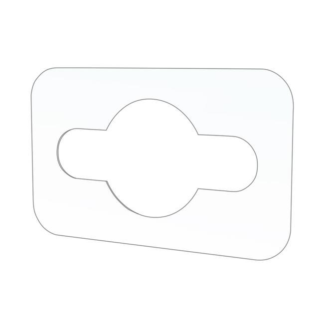 Gancho adesivo com furo Euro 0,25 mm