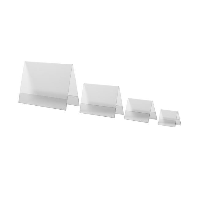 Expositor cavalete em PVC rígido, em formatos da série A