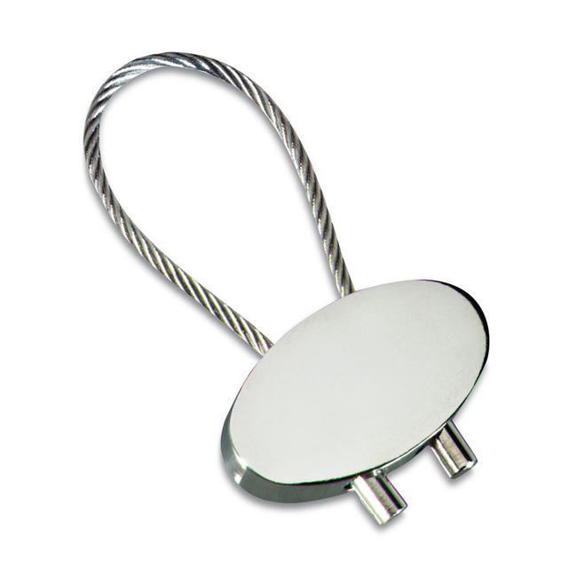 "Porta-chaves ""Keyring Cable"" prateado brilhante"