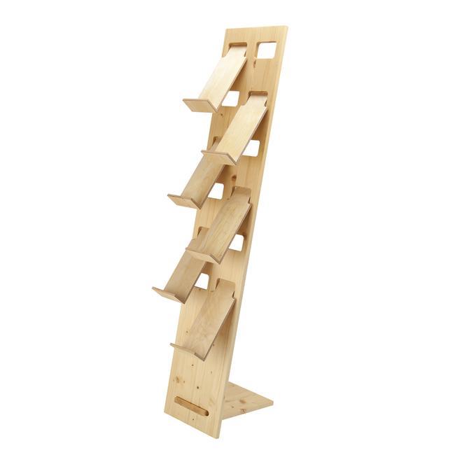 """Suporte de folhetos """"H3"""" em madeira"""