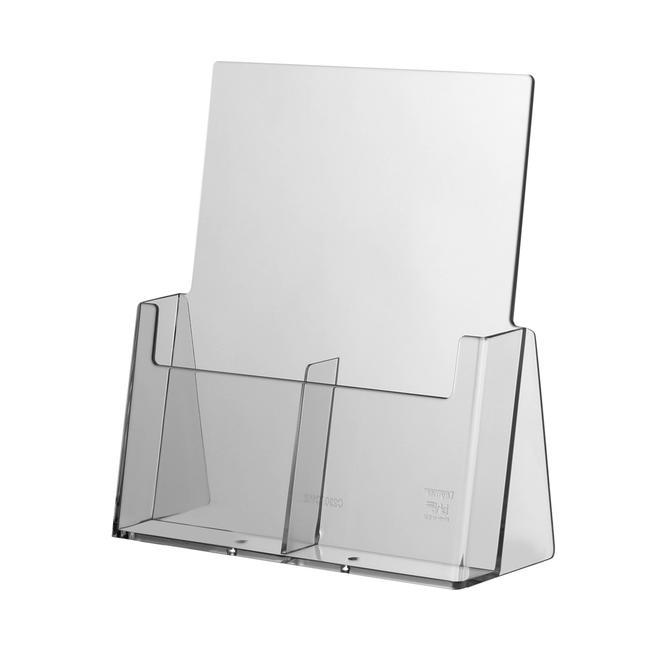 """Expositor de 2 folhetos de balcão para folhetos """"Universum"""" ⅓ A4"""