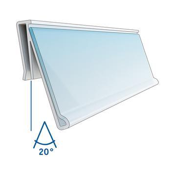 """Porta etiquetas """"RA"""" — ângulo de visualização: 20°"""