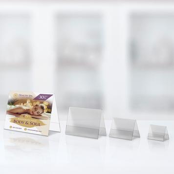 Expositor cavalete em formatos da série A