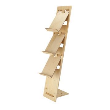 """Suporte de folheto """"H2"""" em madeira"""
