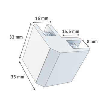 Conector angular 90°