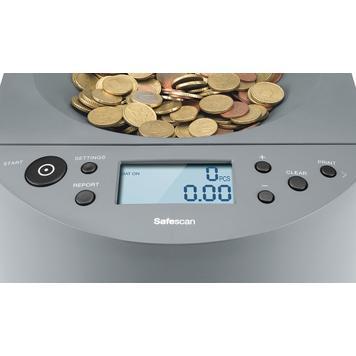 Contador e ordenador de moedas Safescan 1450