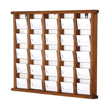 Suporte de cartões de visita madeira p/ pendurar