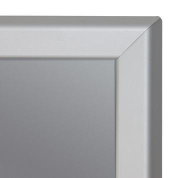 Moldura de encaixe desmontável em alumínio