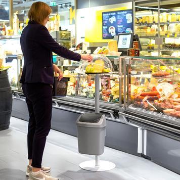 Expositor de amostra de comida